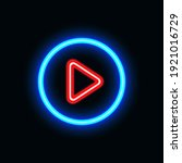video play neon icon for...