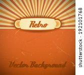 retro background. vector... | Shutterstock .eps vector #192101768