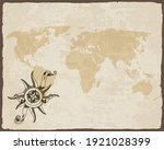 retro nautical compass on old... | Shutterstock .eps vector #1921028399