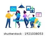 creative team of professionals... | Shutterstock .eps vector #1921038053