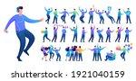 set of a fun teen man.... | Shutterstock .eps vector #1921040159