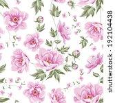 Floral Tile Pattern For Vintag...