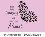 leopard butterfly exotic... | Shutterstock .eps vector #1921056296