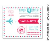 wedding invitation card  ... | Shutterstock .eps vector #192105890