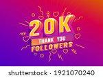 thank you 20k followers ... | Shutterstock .eps vector #1921070240