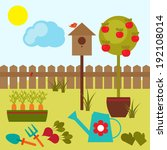 vector illustration of summer... | Shutterstock .eps vector #192108014