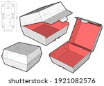 fast food burger box and die... | Shutterstock .eps vector #1921082576