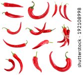 red hot chili pepper collage | Shutterstock . vector #192108998