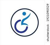 disability logo vector...   Shutterstock .eps vector #1921090529