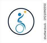 disability logo vector...   Shutterstock .eps vector #1921090553