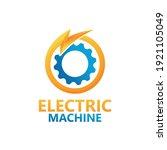 electric machine logo template... | Shutterstock .eps vector #1921105049