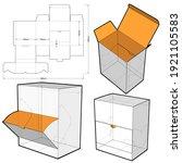 dispenser box and die cut... | Shutterstock .eps vector #1921105583