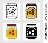honey jam icon vector design in ... | Shutterstock .eps vector #1921134623