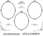 a set of oval frames with... | Shutterstock .eps vector #1921149893
