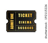 realistic admit one ticket icon ... | Shutterstock .eps vector #192115226