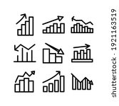 graph icon or logo isolated...   Shutterstock .eps vector #1921163519