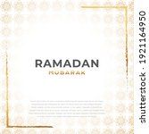 greeting card of ramadhan...   Shutterstock .eps vector #1921164950