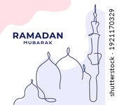 greeting cards ramadan kareem ... | Shutterstock .eps vector #1921170329