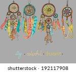 dream catcher  vector... | Shutterstock .eps vector #192117908