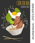 asian food  luncheon meat on... | Shutterstock .eps vector #1921195400