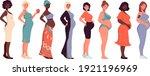 set of different pregnant women ...   Shutterstock .eps vector #1921196969