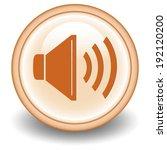 volume circular icon on orange  ...