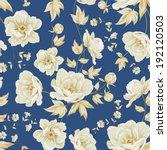 Design of vintage floral pattern. Vector illustration.
