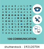 100 communication icons  signs... | Shutterstock .eps vector #192120704