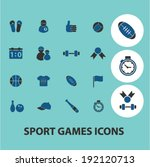 sport icons  signs set  vector | Shutterstock .eps vector #192120713
