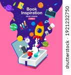 book inspiration  back to... | Shutterstock .eps vector #1921232750