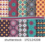 set of  abstract vector paper ...   Shutterstock .eps vector #192124208