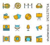 set of entertainment icon.... | Shutterstock .eps vector #1921275716