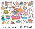 set of spring doodle vector... | Shutterstock .eps vector #1921276649