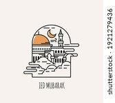 ied mubarak  islamic day of ied.... | Shutterstock .eps vector #1921279436