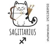 sagittarius sign of the zodiac  ... | Shutterstock .eps vector #1921283933