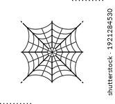 spider web vector icon in... | Shutterstock .eps vector #1921284530