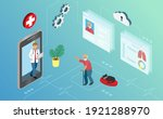 virtual online doctor. doctor...   Shutterstock .eps vector #1921288970