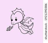 cute dragon boo funny sweet   Shutterstock .eps vector #1921290386