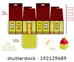 template for fairy tale house... | Shutterstock .eps vector #192129689