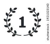 number one circular laurel...   Shutterstock .eps vector #1921323140