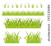 green grass set  isolated on... | Shutterstock .eps vector #192133484