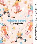vector poster of winter sport...   Shutterstock .eps vector #1921341176