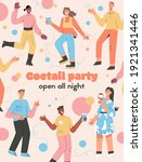 vector poster of cocktail party ...   Shutterstock .eps vector #1921341446