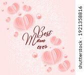 happy mother's day. best mom...   Shutterstock .eps vector #1921358816