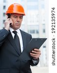 busy contractor. confident... | Shutterstock . vector #192135974