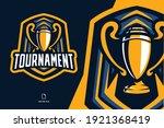 tournament trophy mascot logo... | Shutterstock .eps vector #1921368419