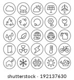 set of minimal simple ecology... | Shutterstock .eps vector #192137630