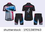 cycling jerseys mockup t shirt... | Shutterstock .eps vector #1921385963