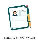 resumes. cv application. resume ... | Shutterstock .eps vector #1921425620