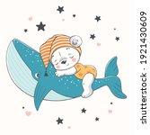 vector illustration of a cute...   Shutterstock .eps vector #1921430609